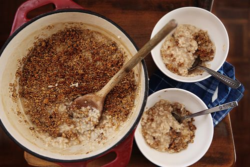baked risotto with walnut parmesan crust | Yuuummm | Pinterest
