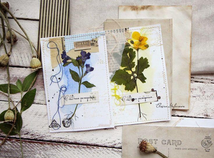 Открытки из засушенных цветов 9