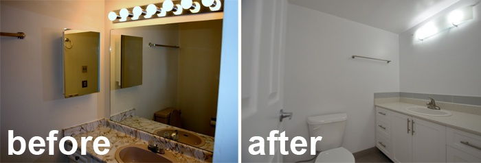 New bathroom fixtures and update | Before & After | Pinterest