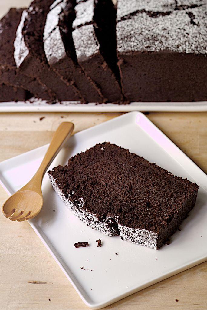 Everyday Chocolate Cake. This is gooooood. Mine took a long time to ...