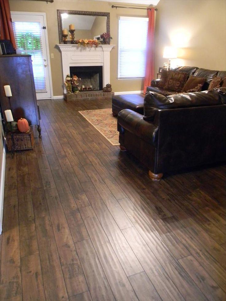 Builddirect lamton laminate 12mm handscraped muskoka for Laminate flooring ideas for living room