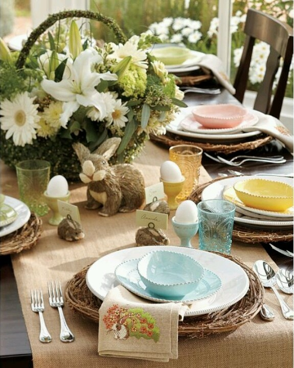Beautiful Table Spring Easter Decor Pinterest