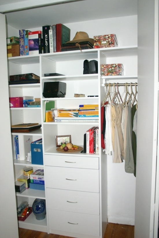 small closet organizer perfect for a guest room