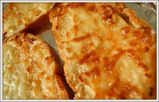 "Cheesy Garlic Toasted Bread"" French Bread, Butter, Minced Garlic ..."