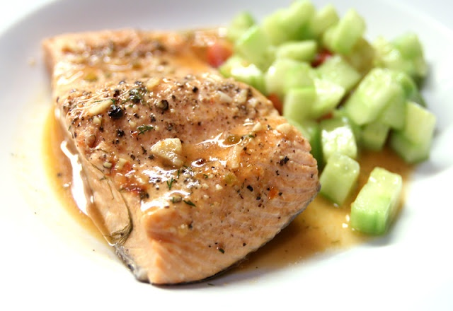 Poached salmon | Cooking, Desserts & Drinks..... | Pinterest