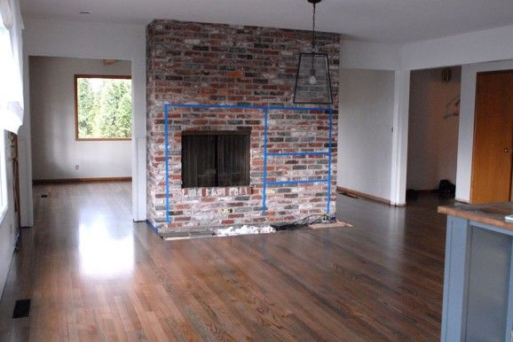 Brick Fireplace Renovation For The Home Pinterest
