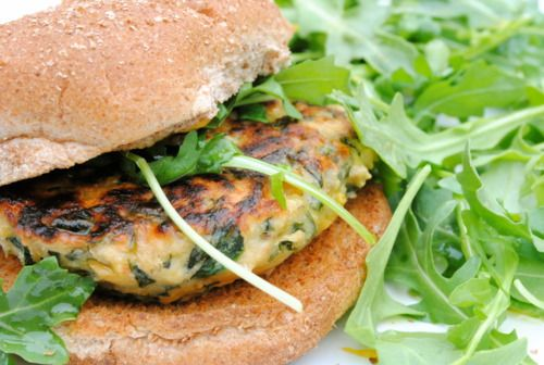 Spinach and Chickpea Burger .... I do have a special affinity for both ...