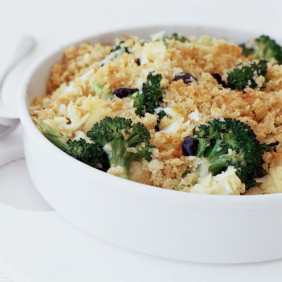 Broccoli and Cauliflower Gratin with Cheddar Cheese | Recipe