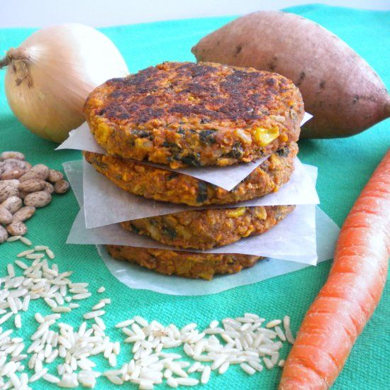 These Pinto Bean Burgers are freezer-friendly and healthy - packed w ...