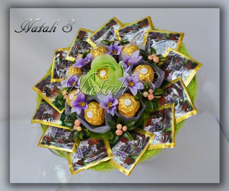Цветы и украшения из пакетиков чая