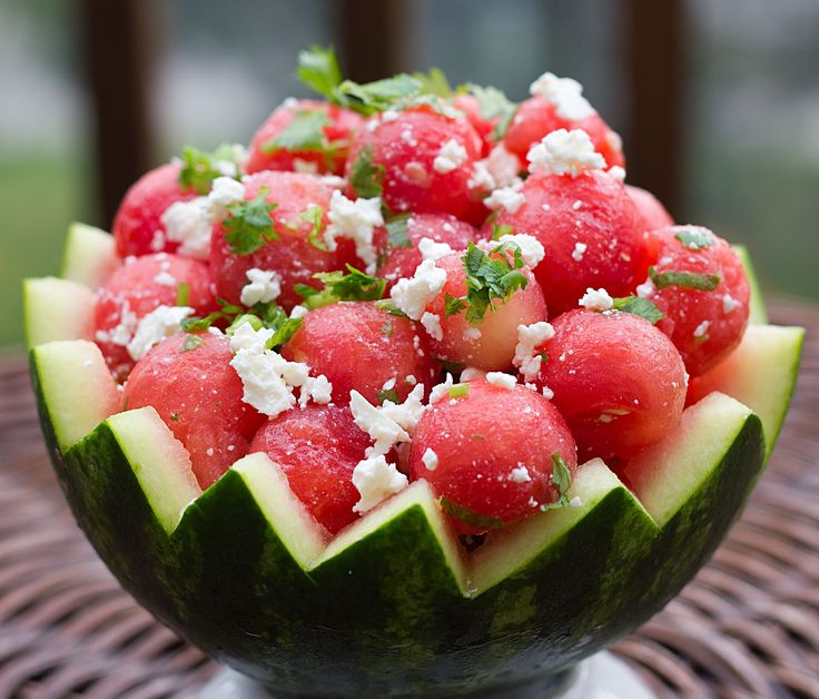 Watermelon Salad?? Summer fruit is appropriate, inexpensive and so ...
