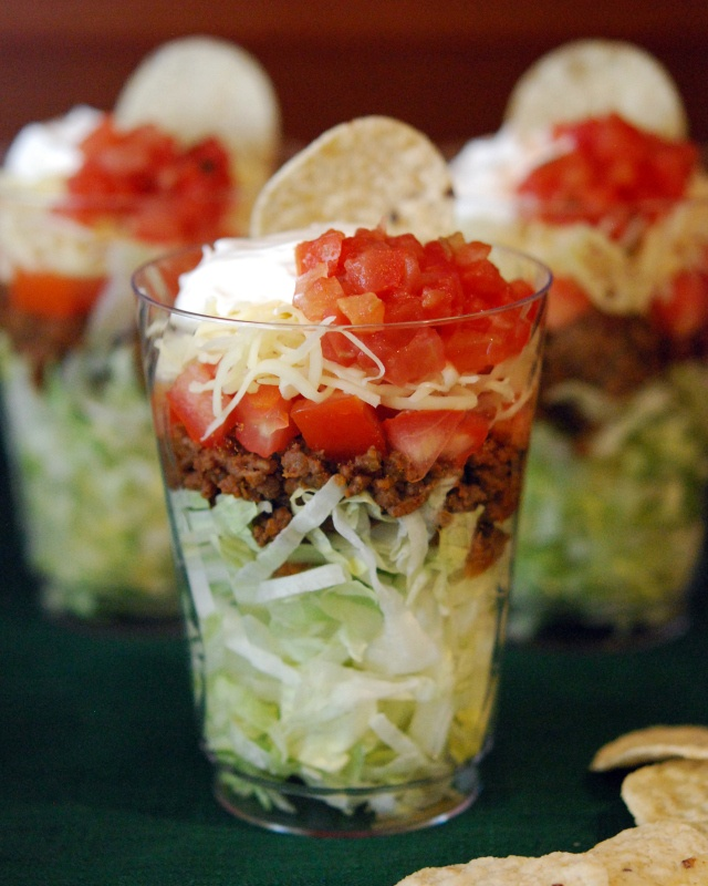 Taco in a Cup.....or Cup Tacos | Food | Pinterest