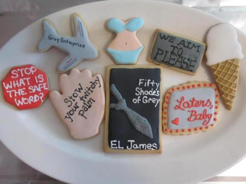 Fifty Shades of Grey cookies!