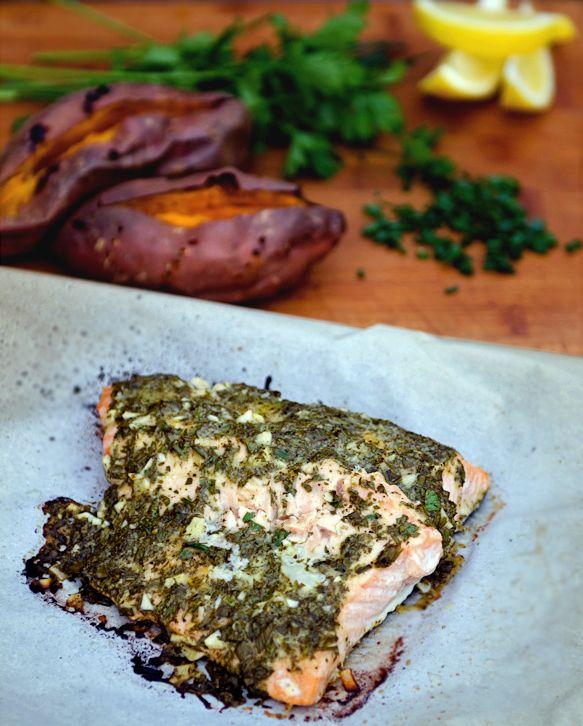 Dijon Herb Salmon | Healthy Entrees | Pinterest