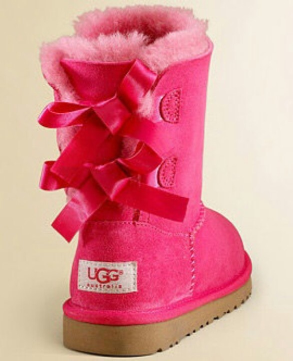 hot pink uggs with bows
