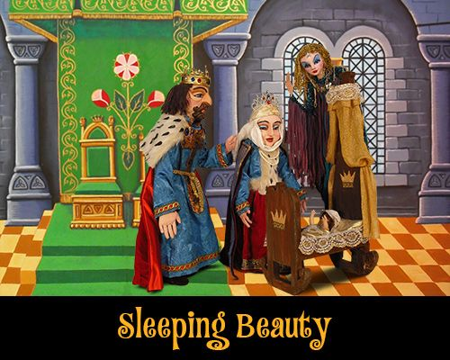 Thursday, August 14 - Sleeping Beauty by Tanglewood Marionettes. A painted story book opens to reveal each scene. Beautifully hand-crafted marionettes are brought to life by a master puppeteer as the dramatic events unfold.