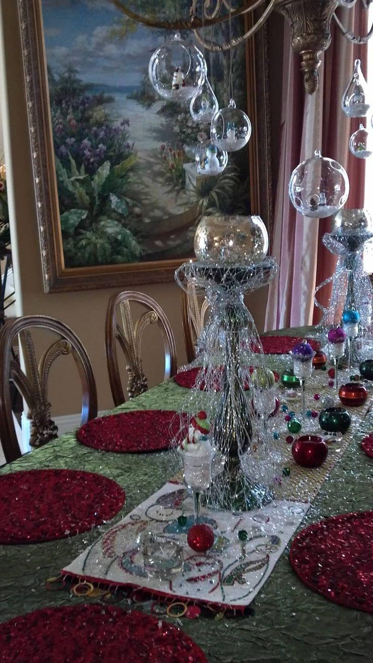 Christmas Tablescape Tablescapes Pinterest