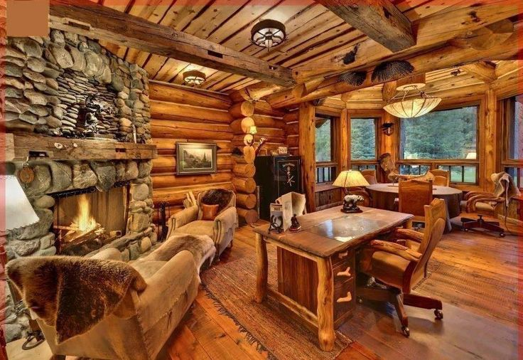 Cozy wood cabin interior!! | Wood Cabin | Pinterest