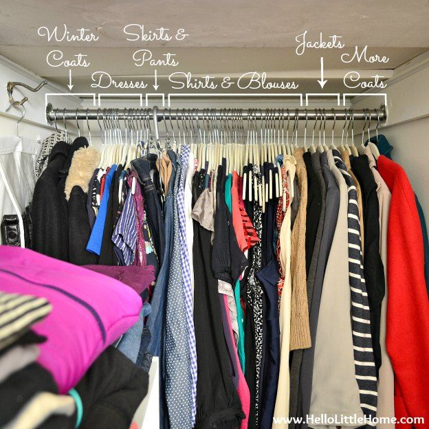 organizing hanging clothes in closet organizing pinterest