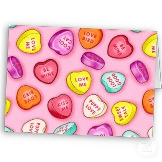 valentine day candy cards