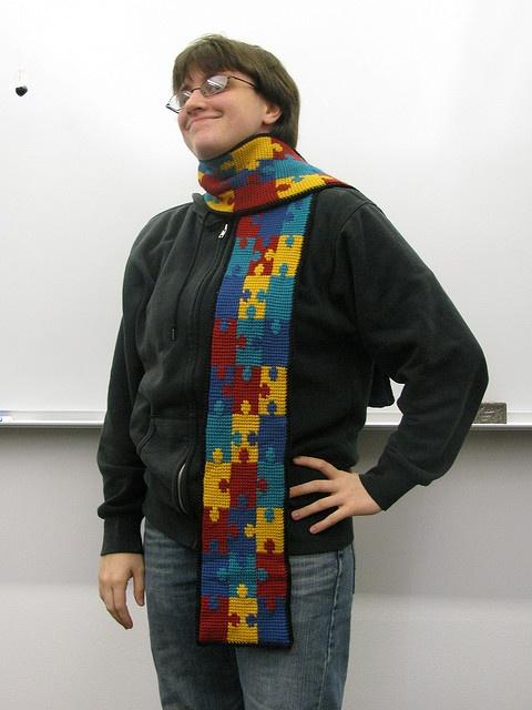 Autism Scarf - free crochet pattern Aspergers/Autism ...