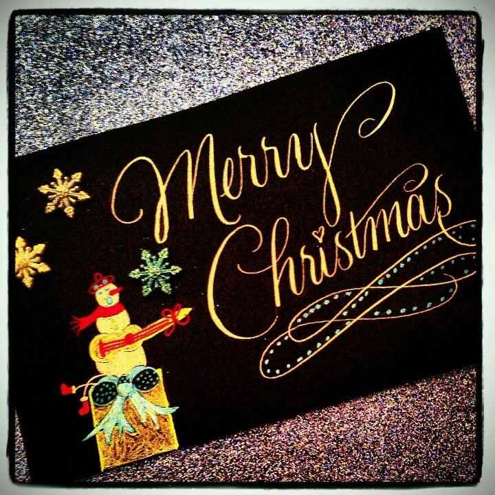 Custom Calligraphy Christmas Card Calligraphy Pinterest