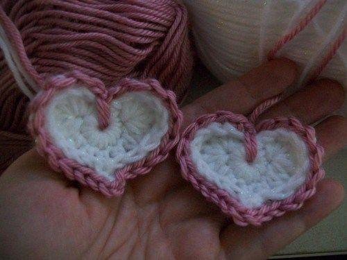 crochet hearts | Heart | Pinterest