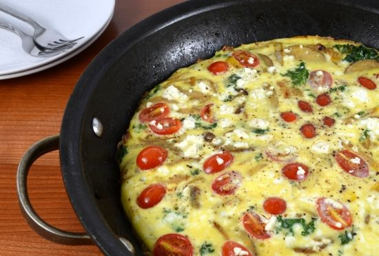 Baked Spanish Tortilla with Potato, Bell Pepper, Onion, Kale, Tomato ...
