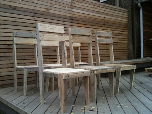 Dining room chairs made out of pallets Chairs made out of wooden pallets