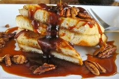 Bacon Jam Stuffed French Toast with Chicory Cane Syrup and Spiced ...