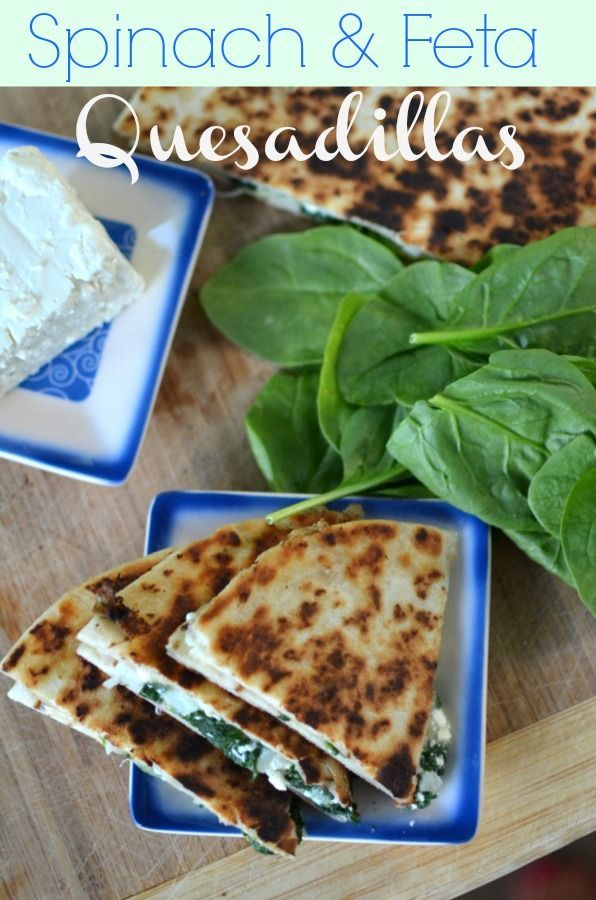 Spinach and feta quesadilla. #recipe http://www.nap-timecreations.com ...