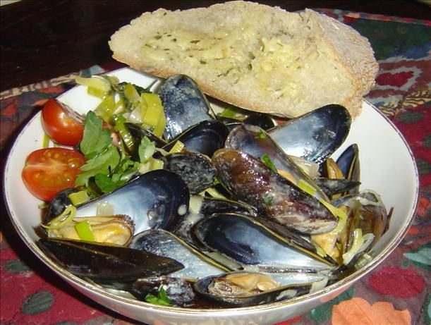 Mussels Dijonaise - perhaps one of my favourite ways of making mussels
