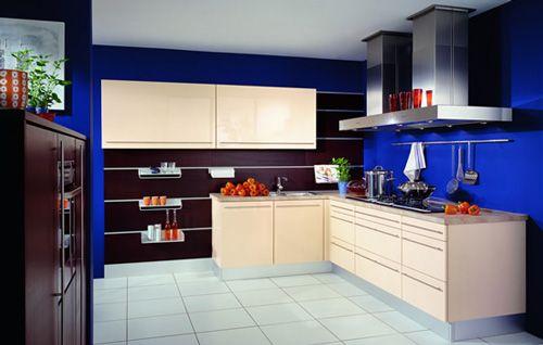Electric Blue kitchen walls  Design  Pinterest