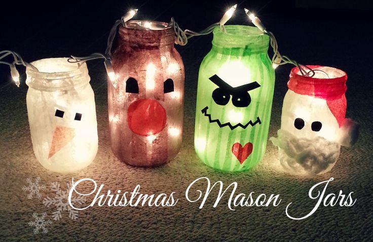 Tutorial christmas mason jars crafts pinterest for Diy christmas crafts with mason jars