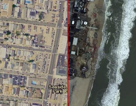 Hurricane Sandy: The After Map from Esri shows pre and post Hurricane Sandy imagery of damaged areas