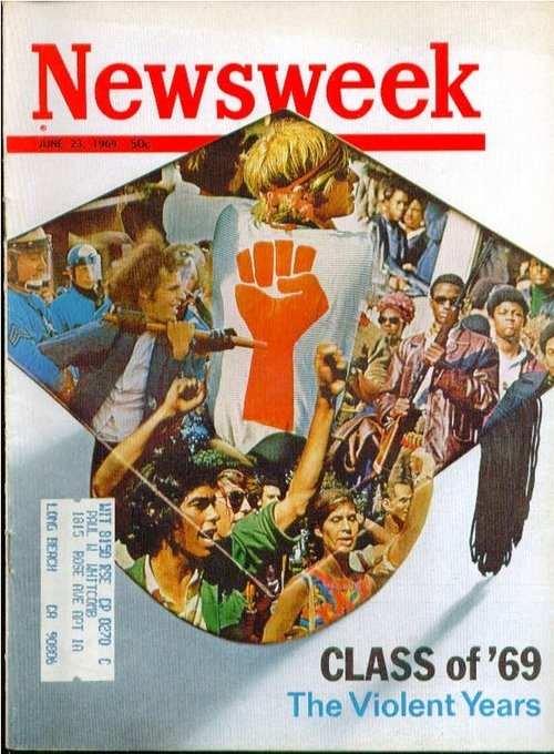 """Back to School!  Newsweek, June 23, 1969. """"Class of '69: The Violent Years"""""""