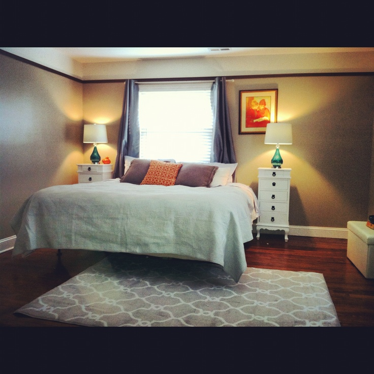 Orange And Grey Bedroom Images