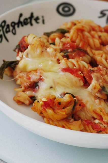 WW - Low Fat Baked Pasta with Spinach - 6 points