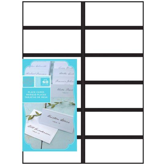 Gartnerr studios black border place cards for Gartner cards template