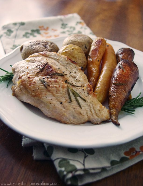 Rosemary Olive Oil Chicken, Roasted Rainbow Carrots & Potatoes ...