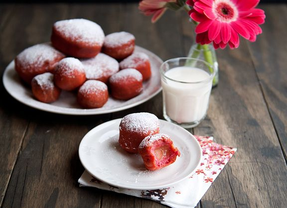 Blood Orange Curd-Filled Beet Doughnuts | Food Love (from the long, l ...