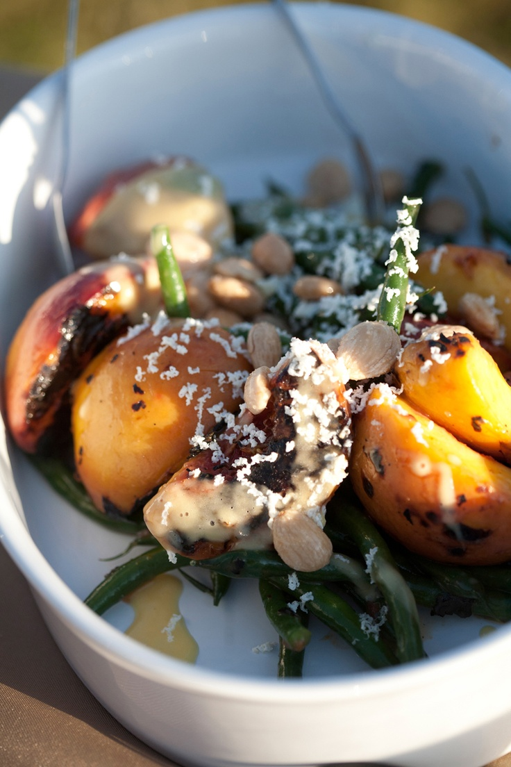 Peach and green bean salad....what a great late August dish!