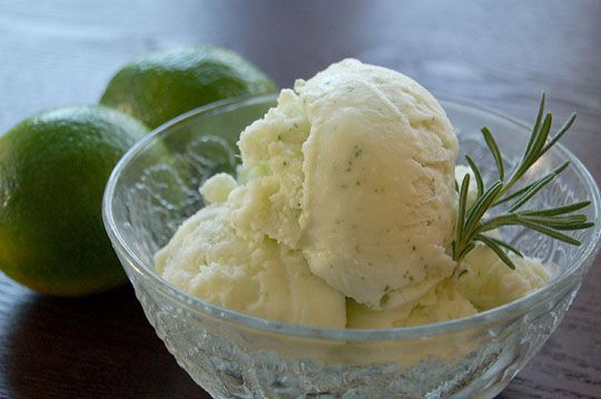 Rosemary-Lime Sparkle Ice Cream — Best Lick! 2008 Ice Cream Contest ...