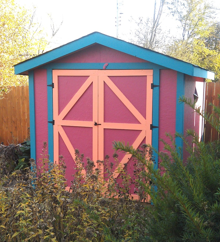 Victorian Backyard Sheds : Garden shed in Victorian color theme  Because I love a really good s