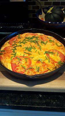 ... ~: Recipes ~ Savory ~ Garden Cheddar Frittata ~ by @KathyHoffman3