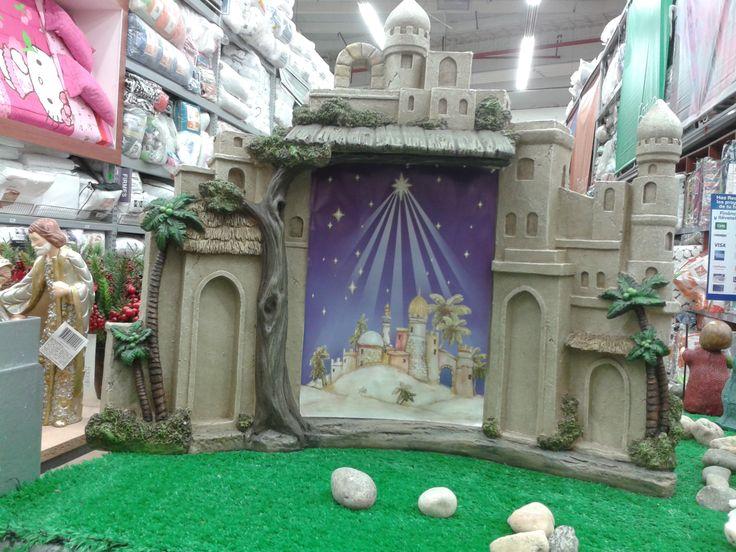 Casa de pesebre decoraci n navide a pinterest - Decoracion navidena de casas ...