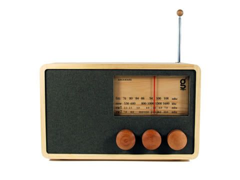 Wooden radios!