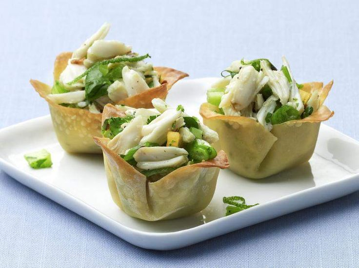 More like this: wonton cups , wontons and crabs .