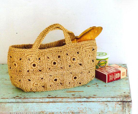 Crochet Summer Bag : PDF Pattern,bag pattern,crochet summer bag pattern ,tote pattern