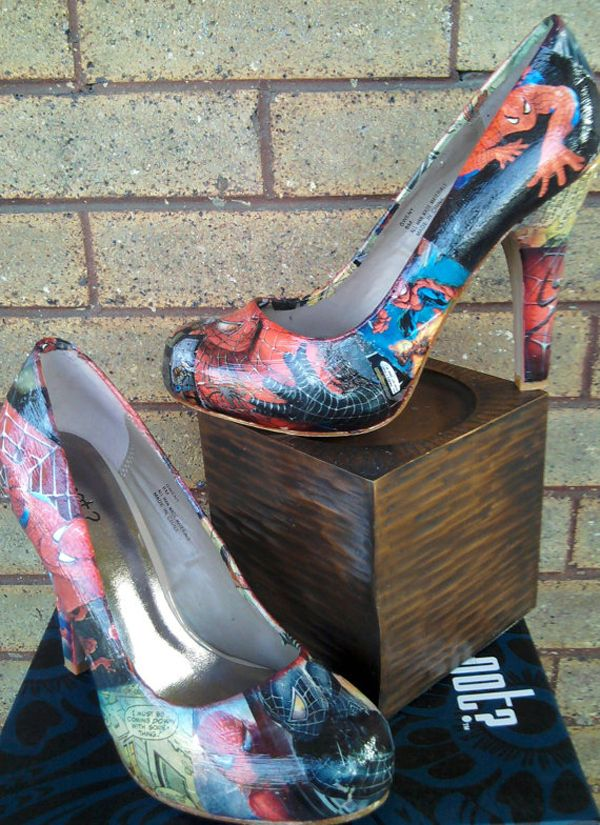 spiderman heels.